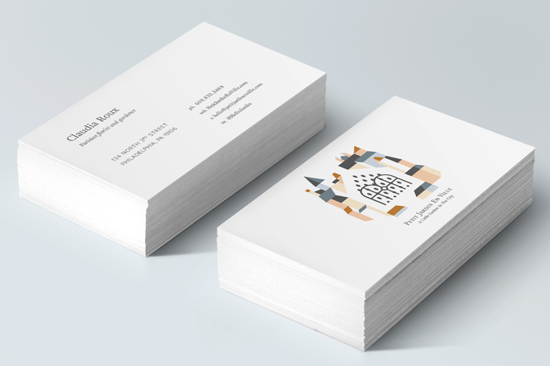 Petit Jardin En Ville Business Cards by Jolly Edition