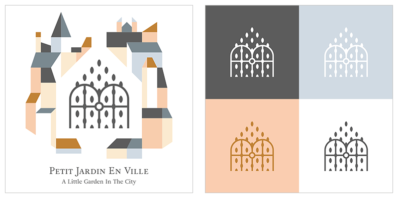 Petit Jardin En Ville Logo by Jolly Edition