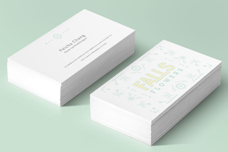 Falls Flowers Brand and Identity by Jolly Edition
