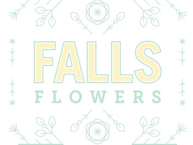 falls flowers logo by jolly edition
