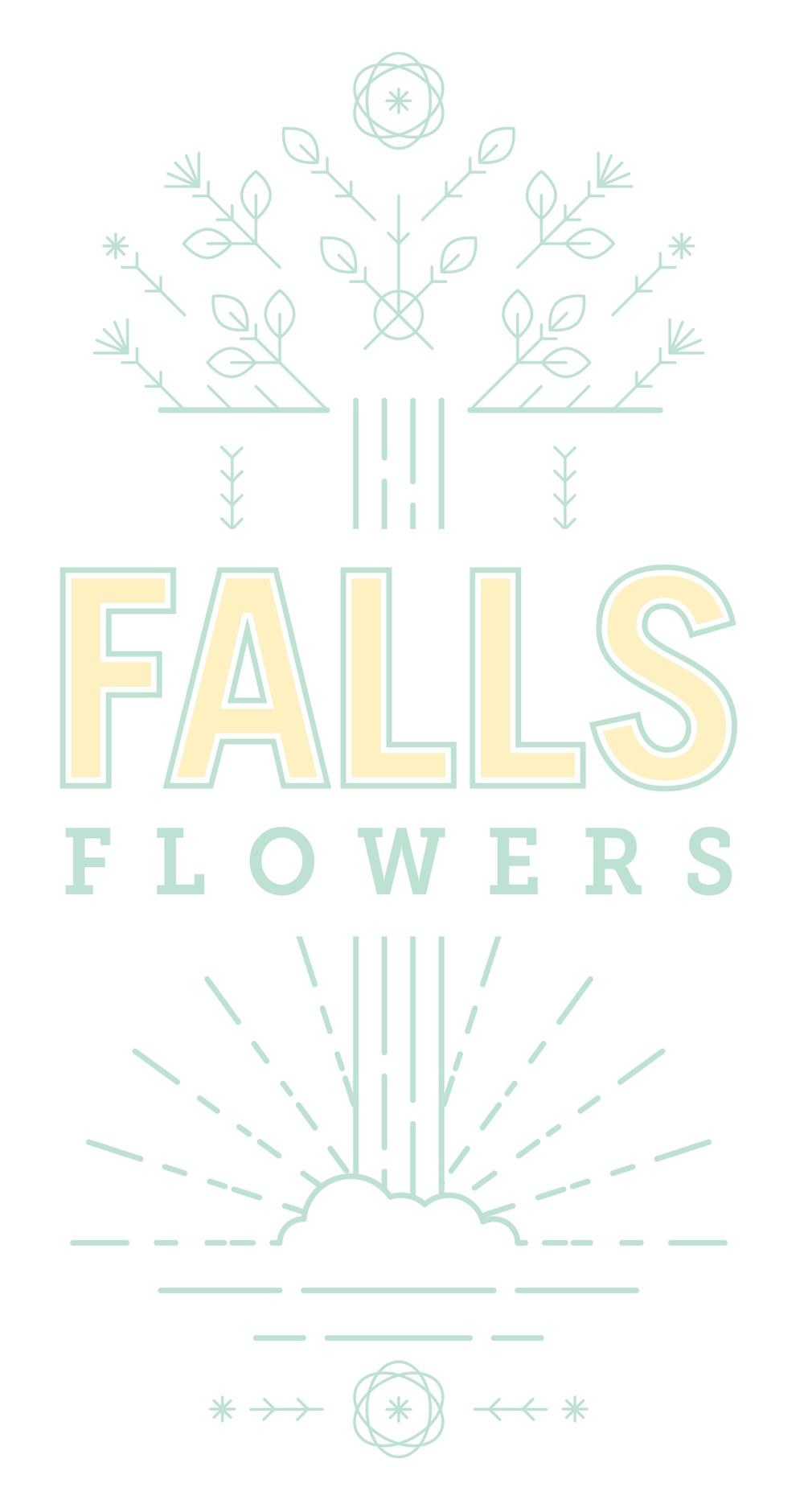 falls flowers full logo jolly edition branding