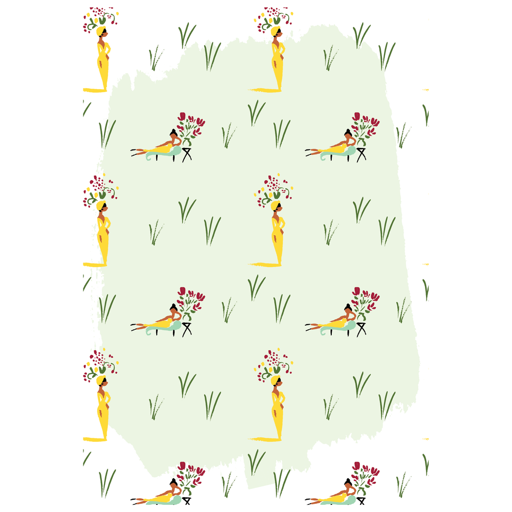 tropical illustrated pattern mint jolly edition