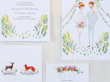 jolly edition Ilona and David wedding stationery