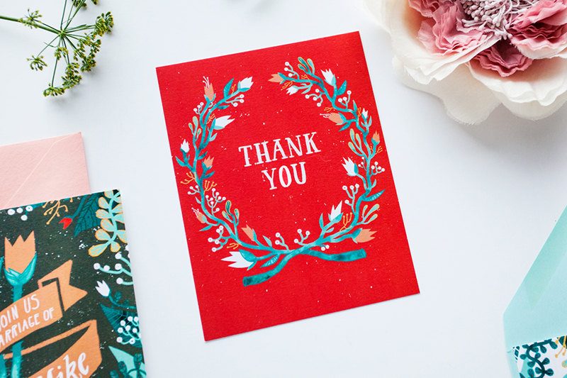stephanie shafer tulips thank you card
