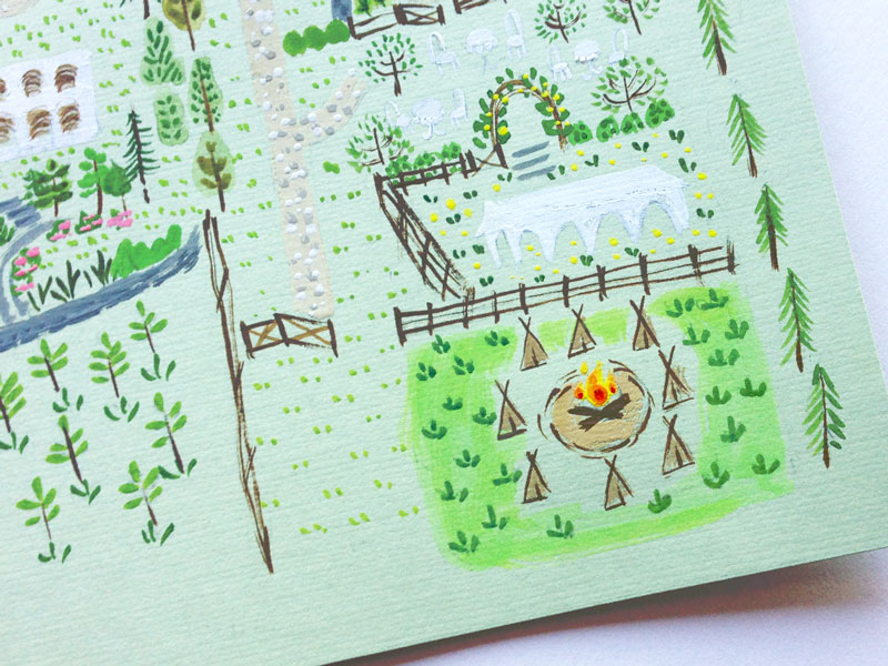jolly edition illustration camp site