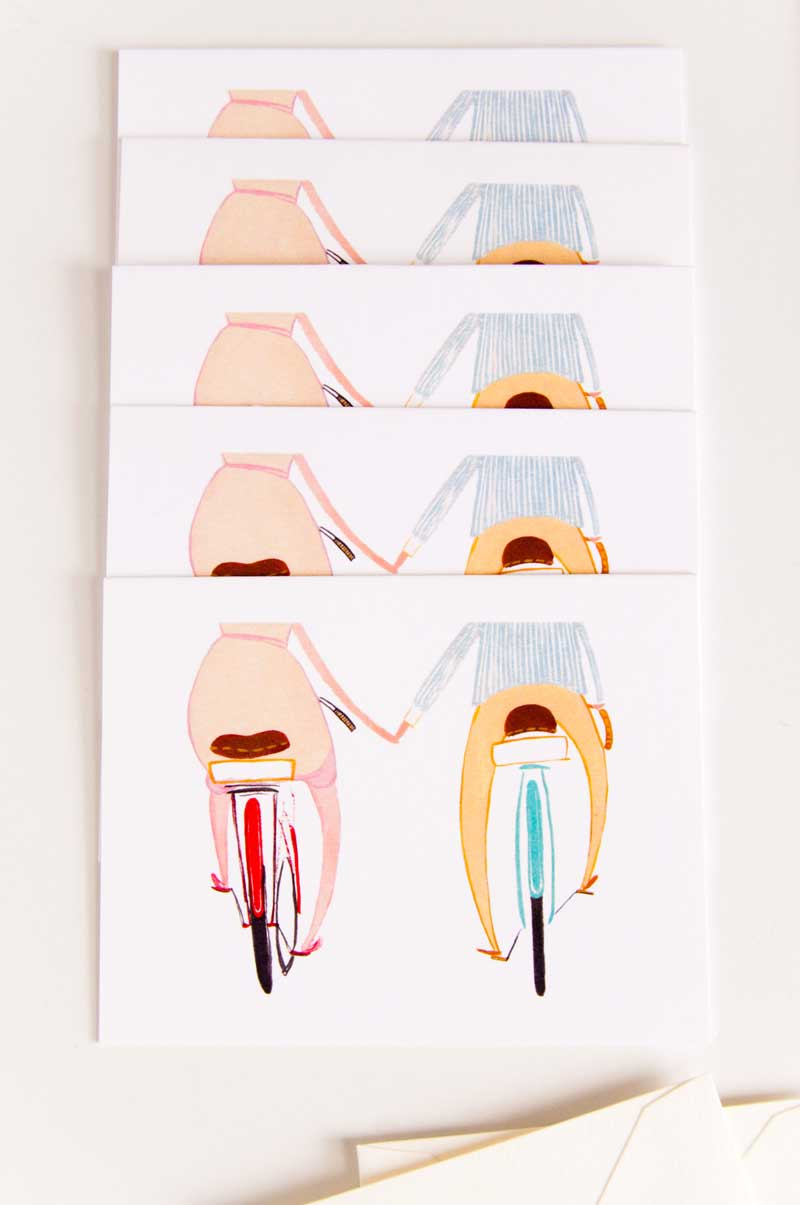 Happy Bikes greeting cards