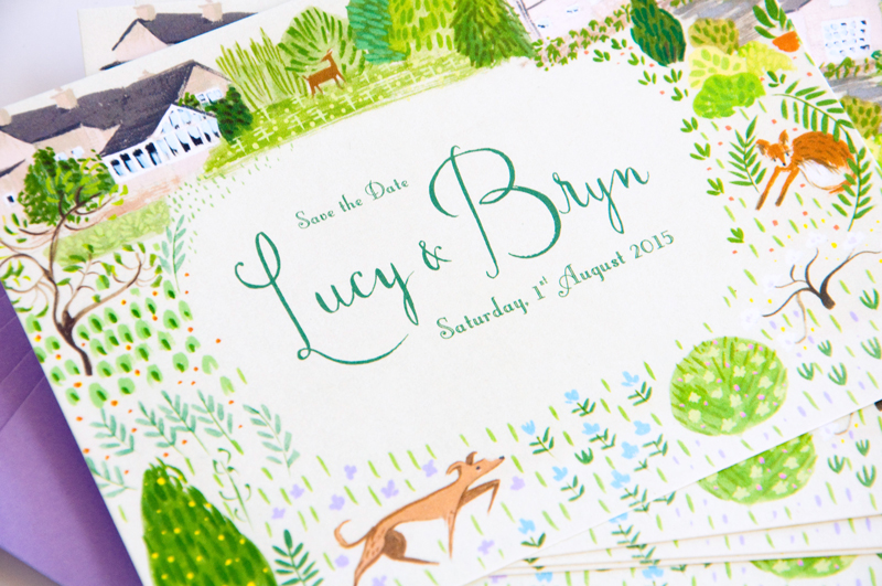 Lucy and Bryn save the date