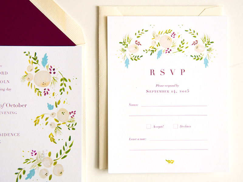 succulent and ivory rsvp