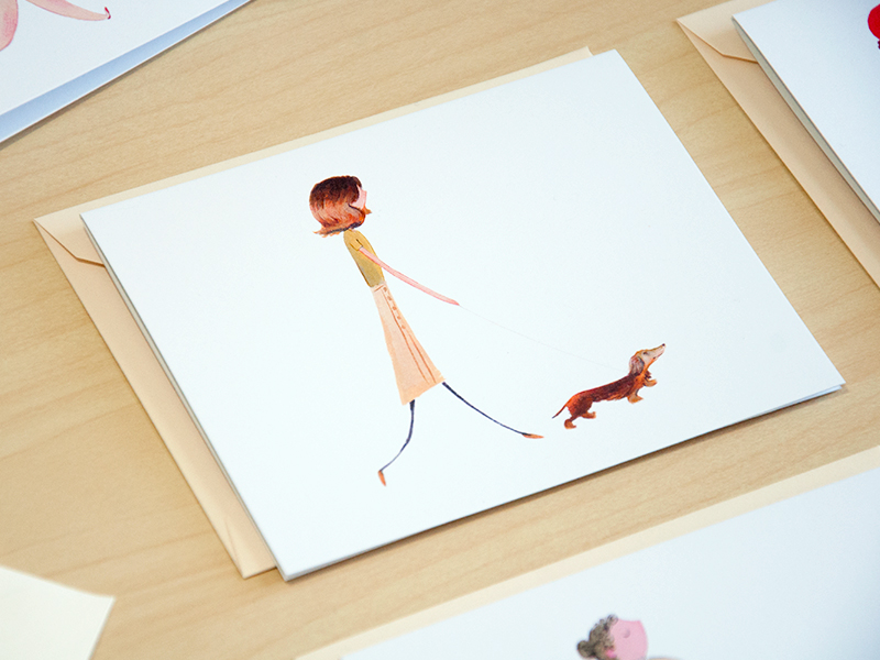 Dog Walker cards illustrated by Laura Shema