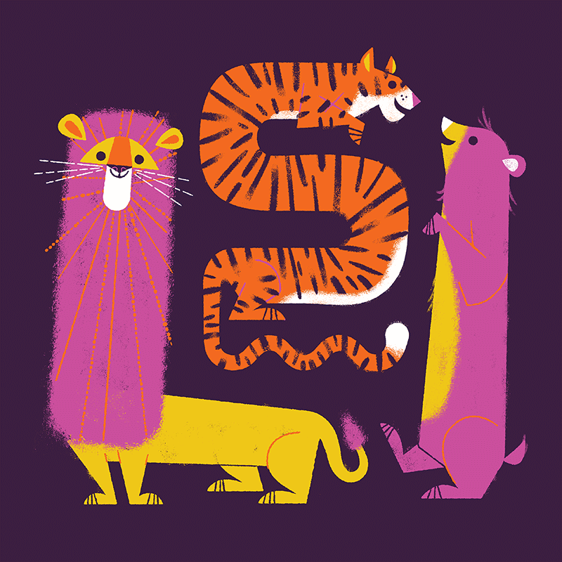 Lion Tiger Bear by Lydia Nichols
