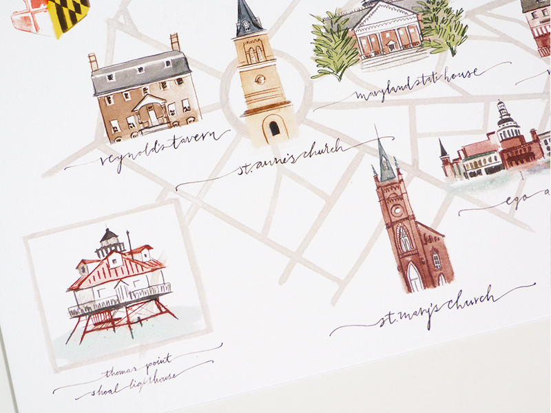 jolly edition annapolis maryland map illustrated by Laura Shema