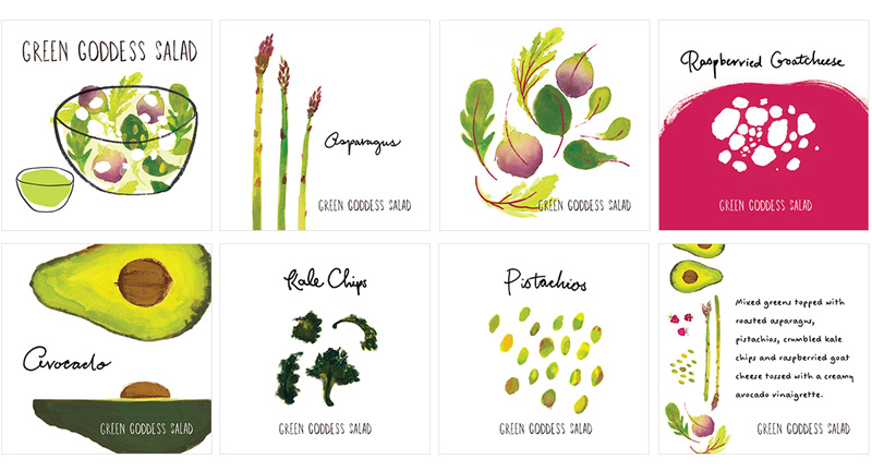 The Lunchbody Lady Green Goddess Salad Menu by Jolly Edition