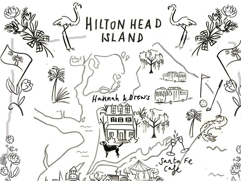 Hannah & Drew Custom Wedding Stationery Sketch by Jolly Edition and Clair Rossiter