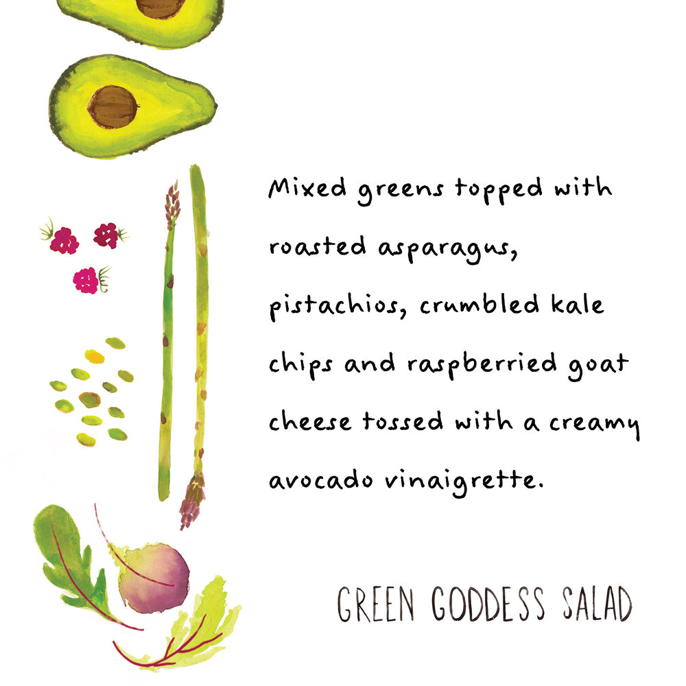 green goddess salad illustration jolly edition food illustration