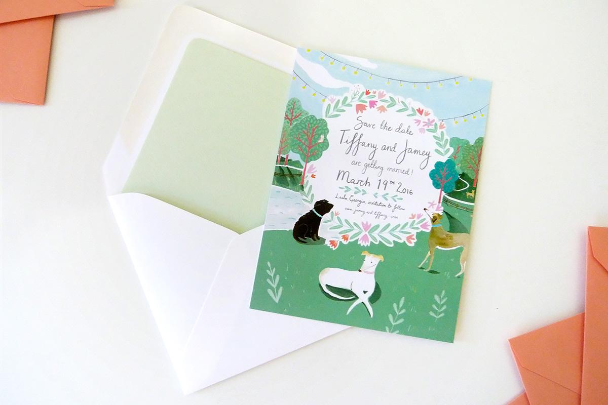 Tiffany & Jamey's Custom Wedding Save the Date by Jolly Edition and Mia Dunton