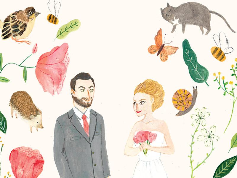 Serena & Simone custom illustration by Jolly Edition, illustration by Katie Harnett