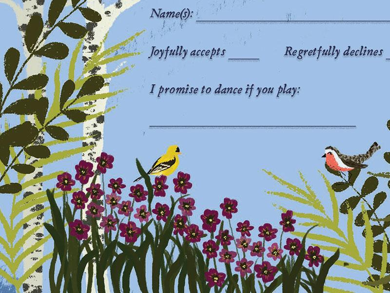 Melissa & Eric Custom Wedding Stationery by Jolly Edition and Joy Laforme