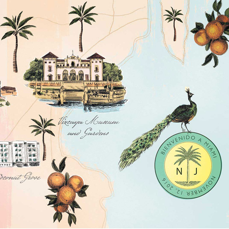 Jolly Edition July 2016 florida map Illustration by Laura Shema for Jolly Edition.
