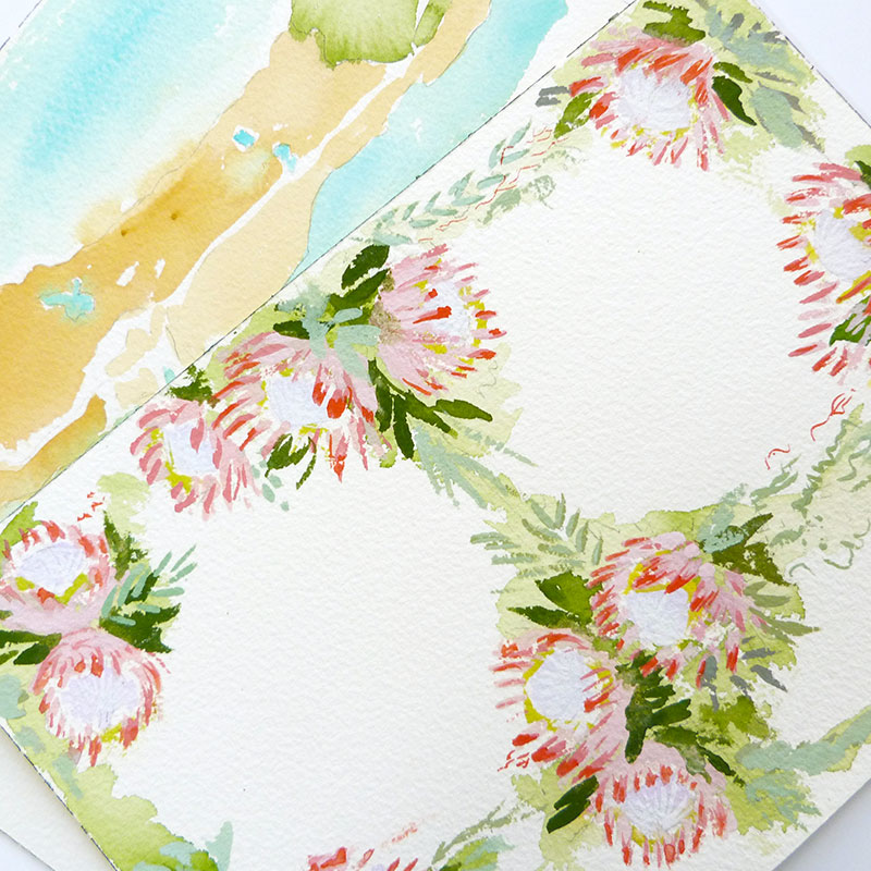 Blog Post November 2016 king protea painting by Laura Shema