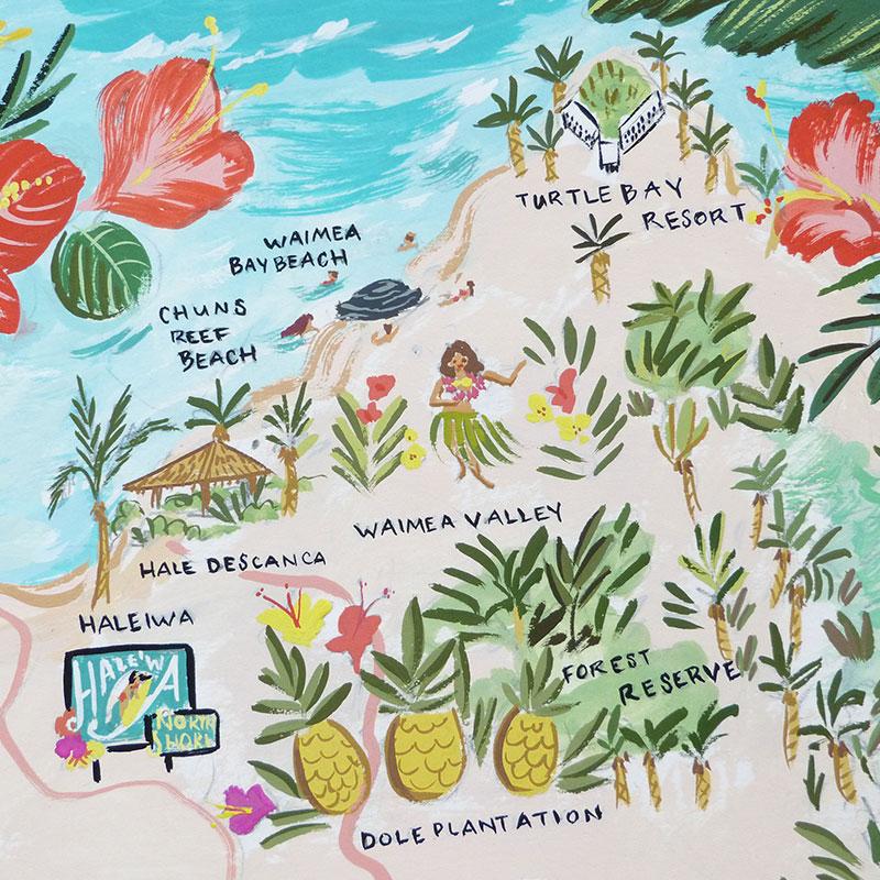 Blog Post December 2016 Hawaiian map by Laura Shema
