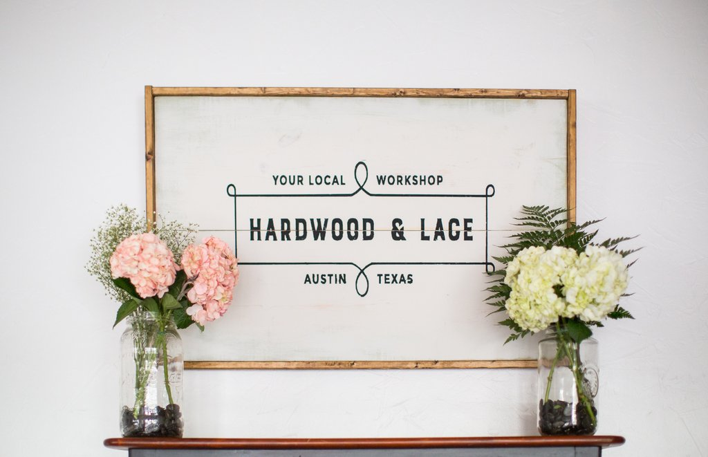 Hardwood & Lace logo designed by Jolly Edition
