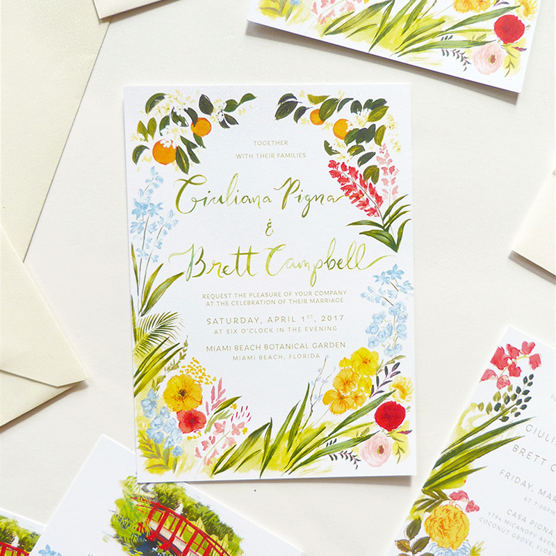 Blog Post January 2017 giuliana-brett-florida-botanical-gardens-invitations