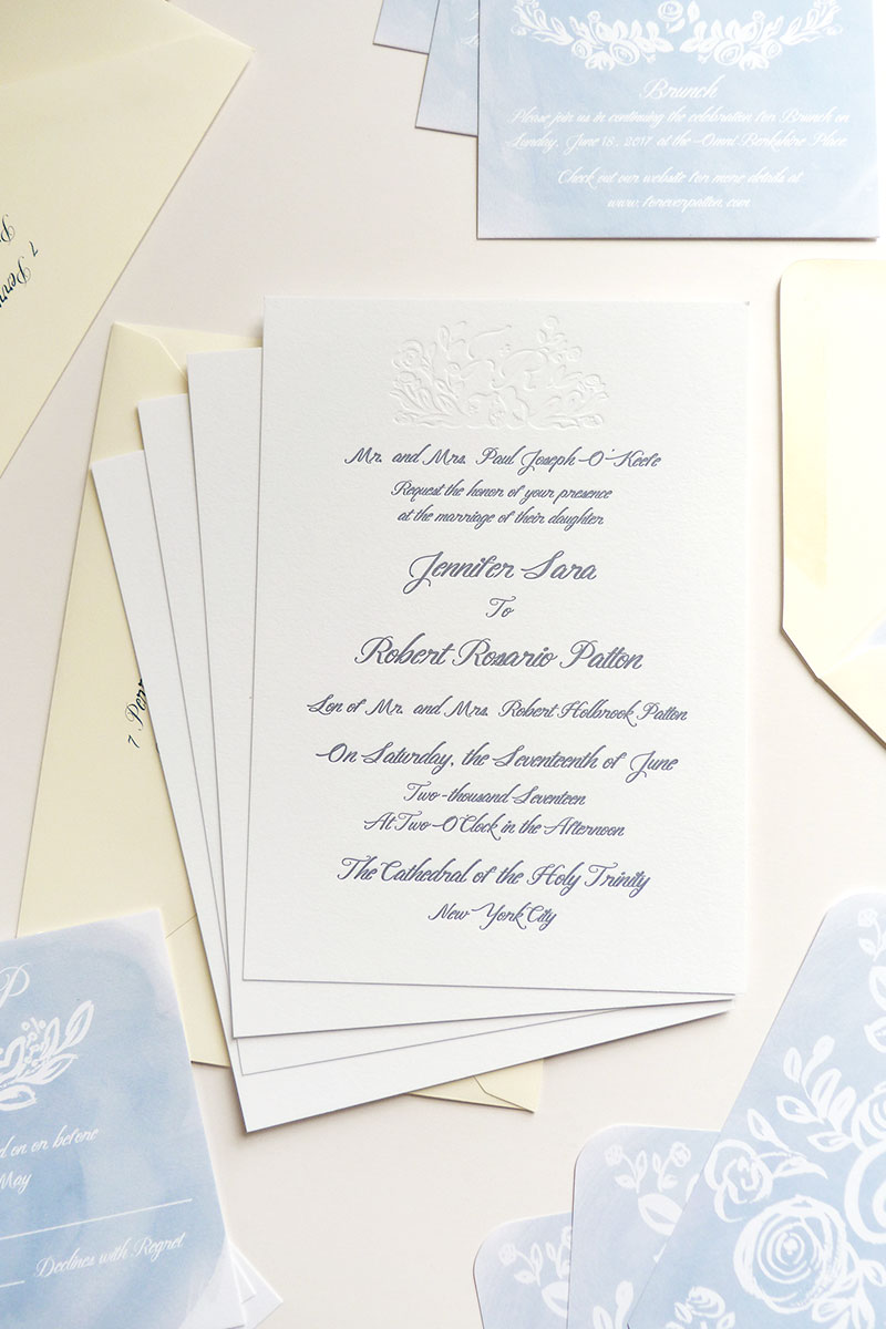 jolly edition jennifer and rob wedding stationery