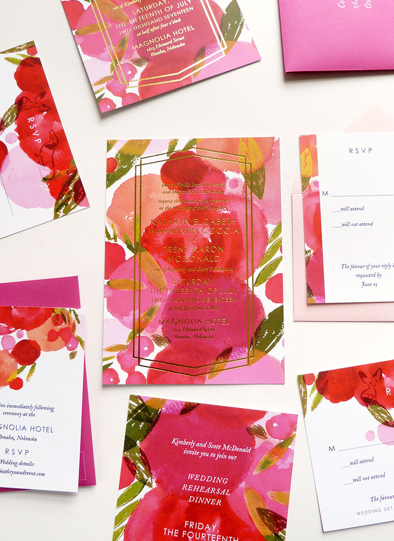 jolly edition kathryn trent wedding stationery