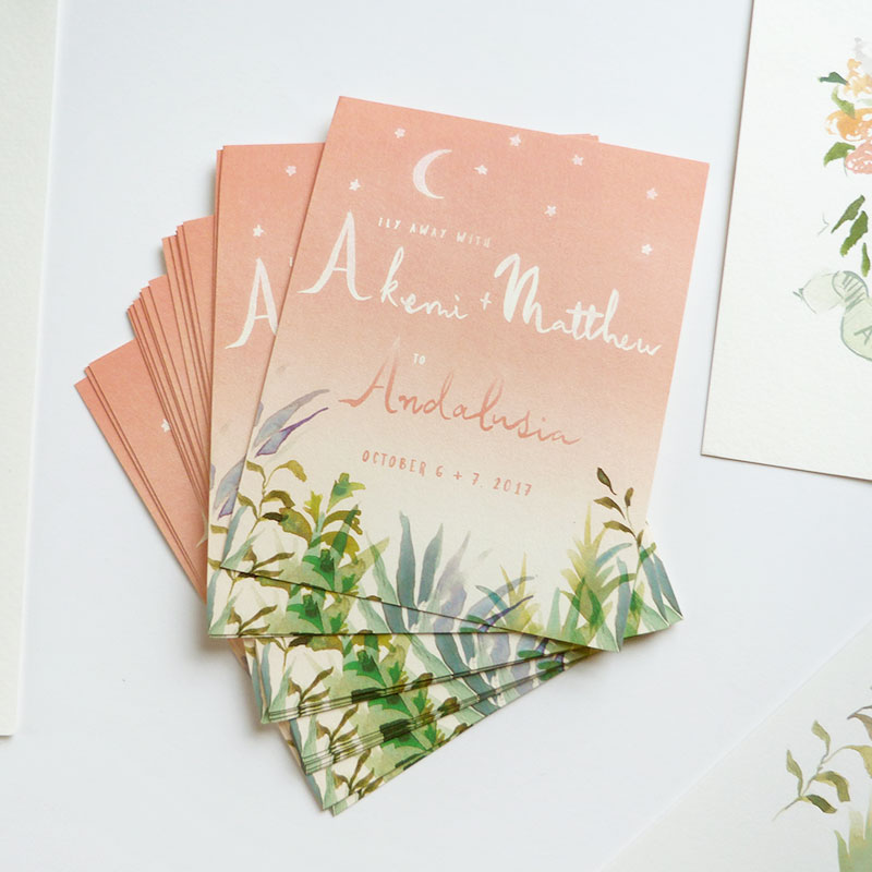 Jolly Edition Blog Post June 2017 Mediterranean inspired hand written save the date