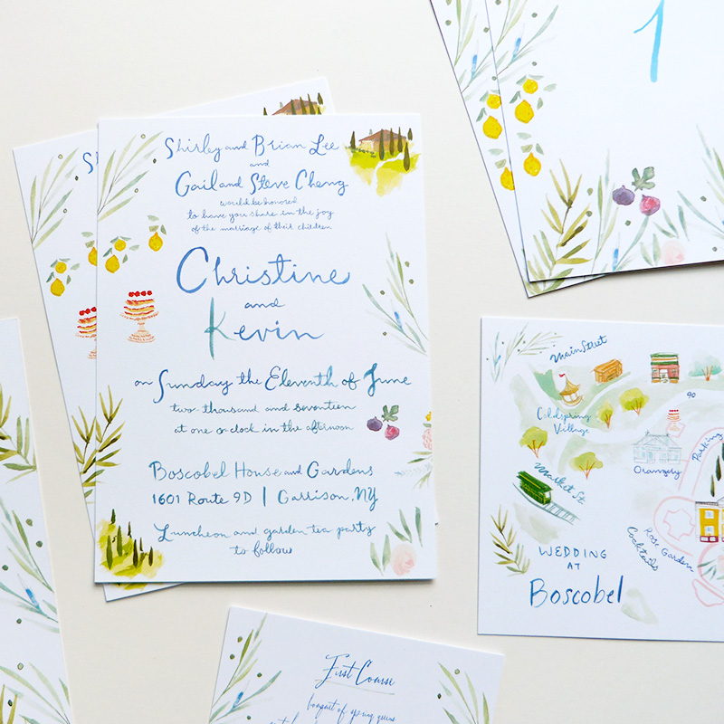 Jolly Edition Blog Post June 2017 hand drawn details - sweet, playful spring wedding invitation suite