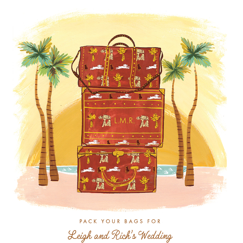 Jolly Edition Blog Post January 2018 Pack your bags for this illustrated Save the Date!