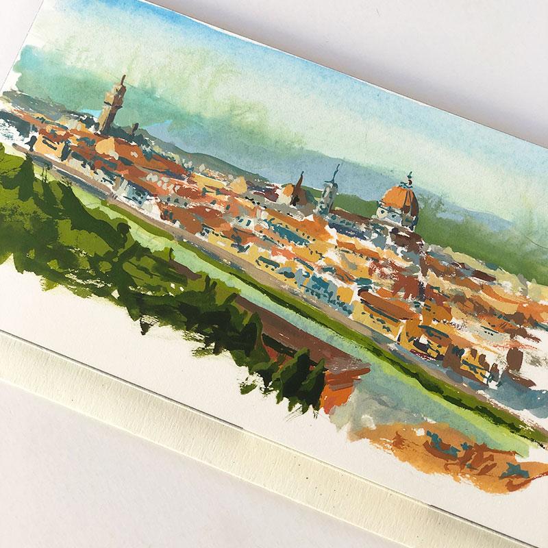 Florence, Italy, Duomo painting