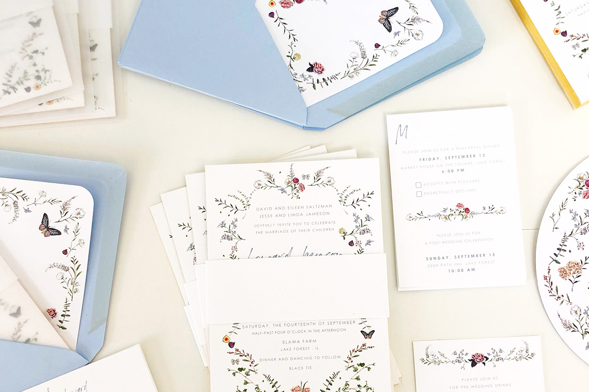 high-end custom wedding stationery Jolly Edition