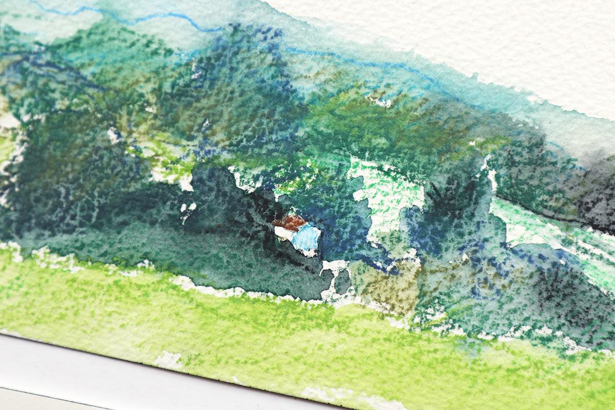 watercolor barn illustration