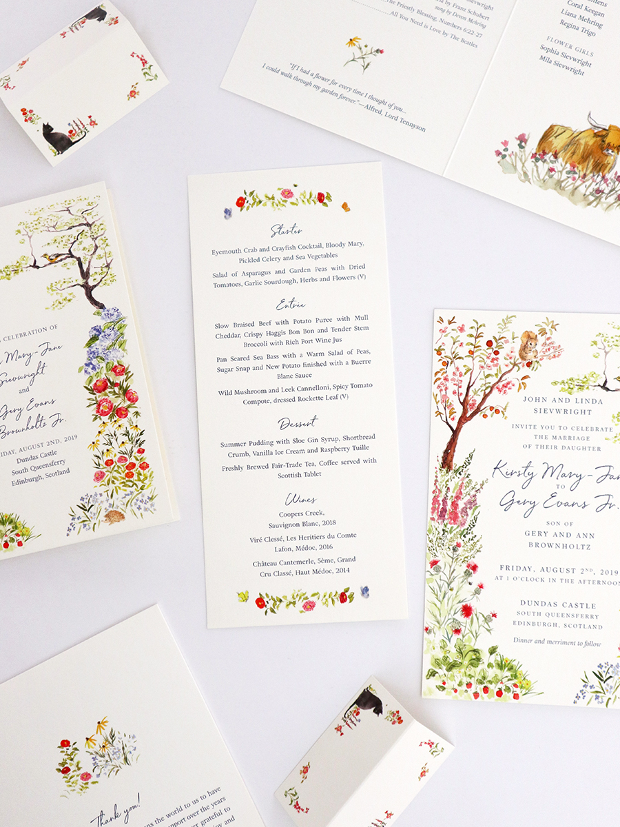 custom wedding stationery dc and scotland