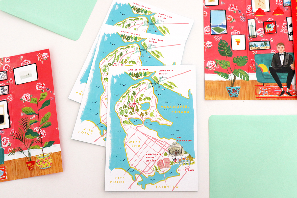 wedding toronto illustrated map