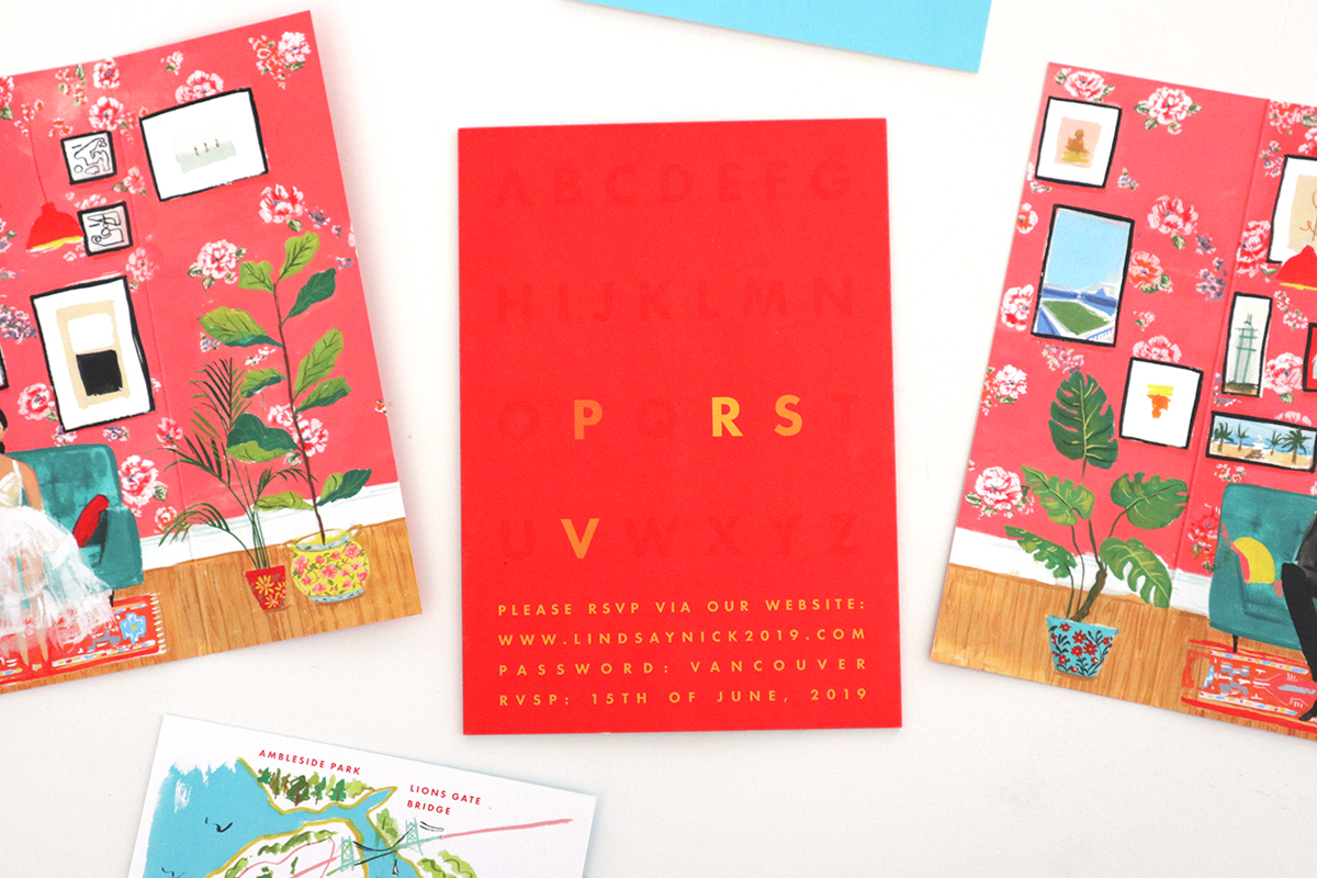wes anderson inspired invitation and rsvp