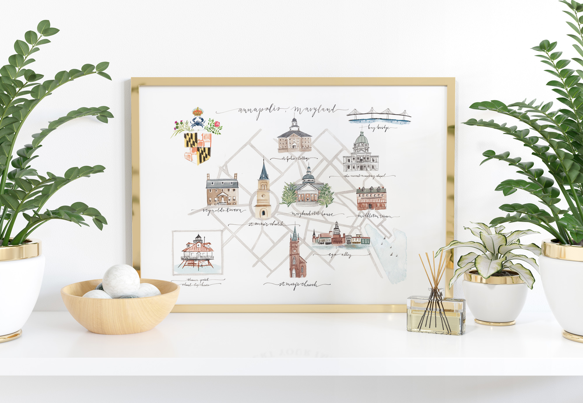 Annapolis, Maryland map by Jolly Edition