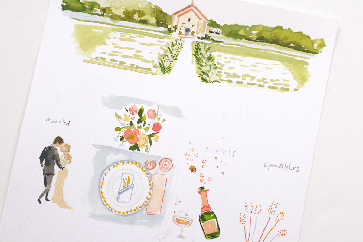 illustrated wedding timeline