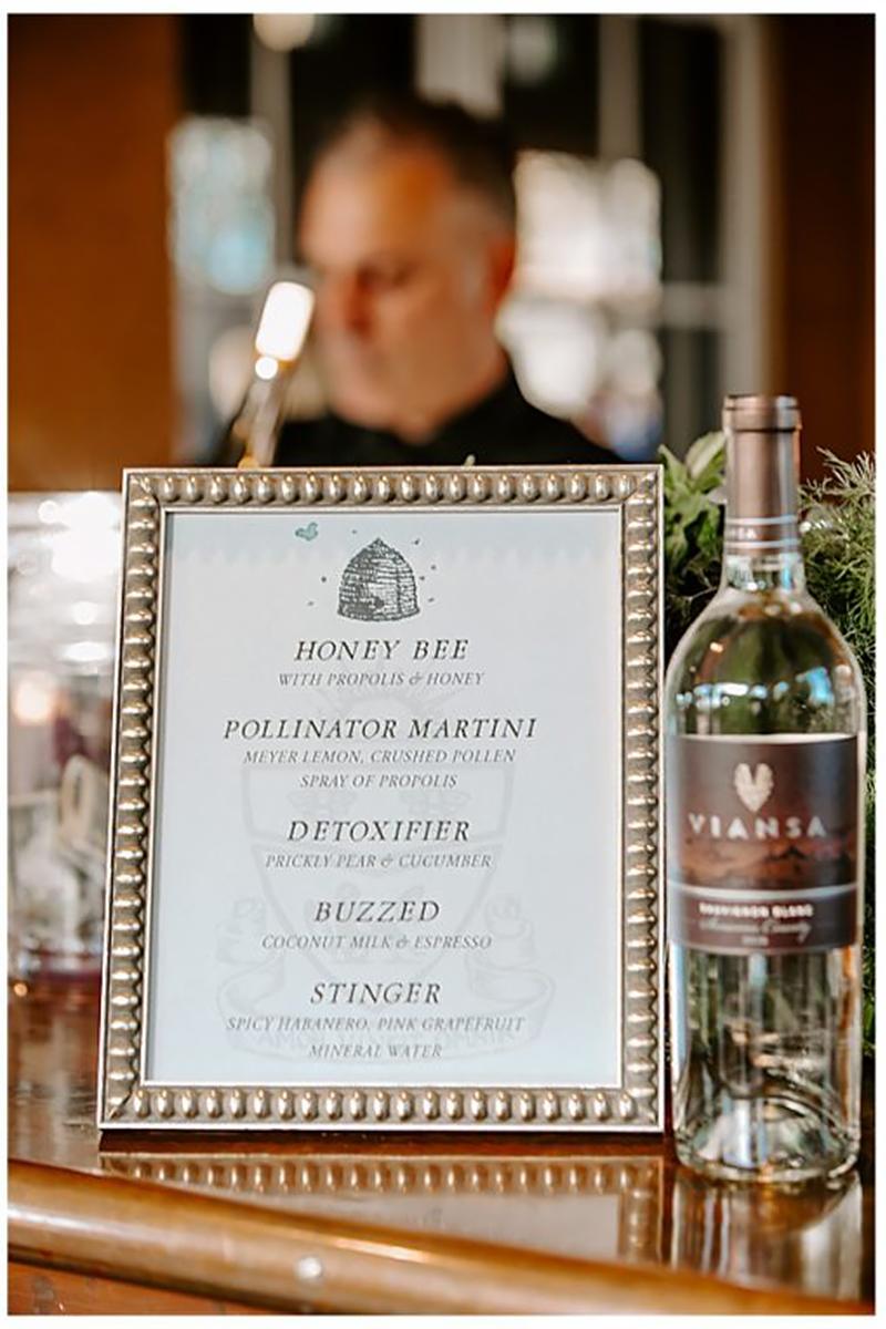 signature drinks menu bee hive jolly edition