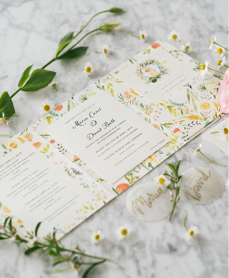 tri-fold wedding invitation vizcaya wedding jolly edition designs