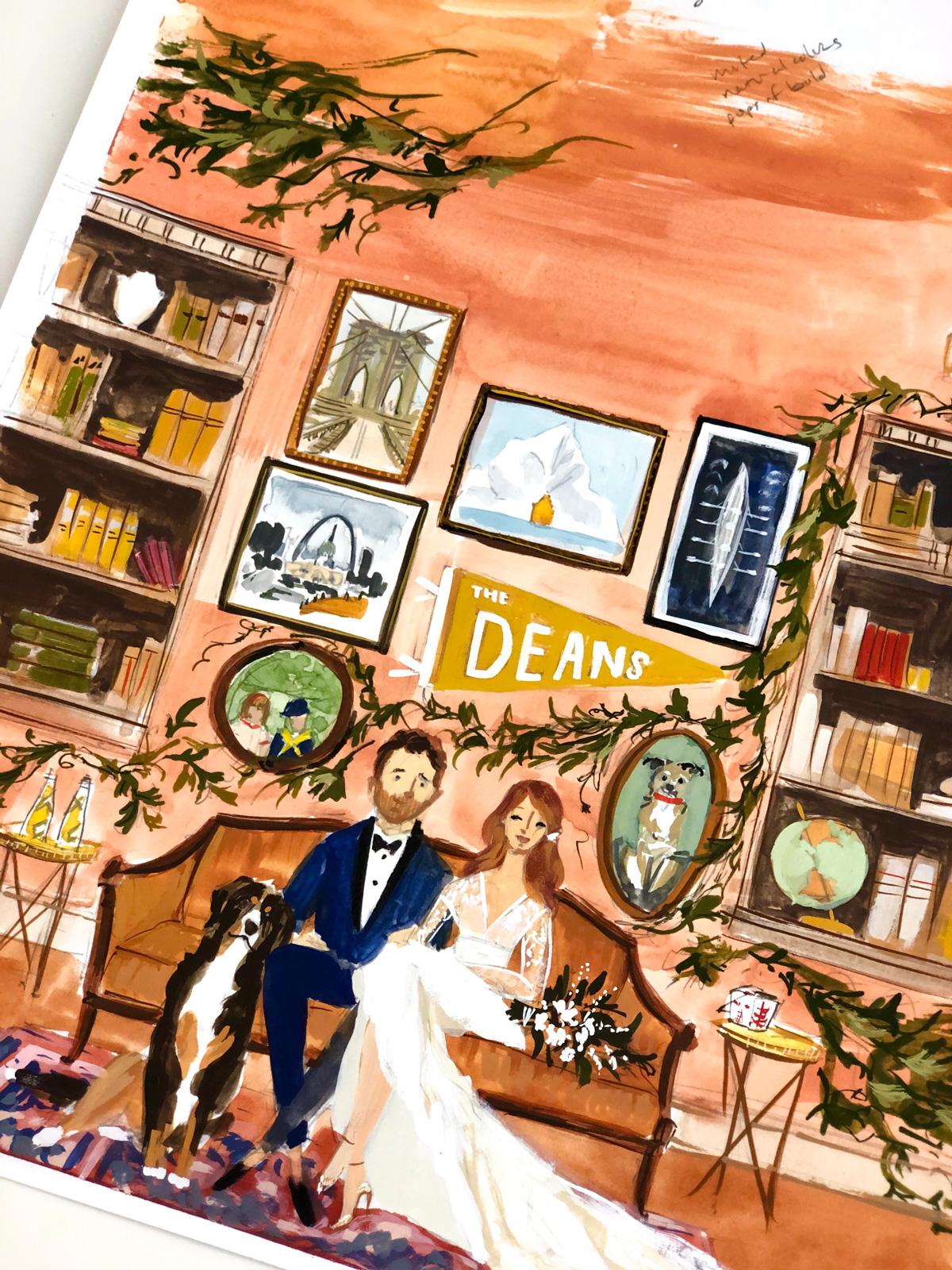 wedding illustration university