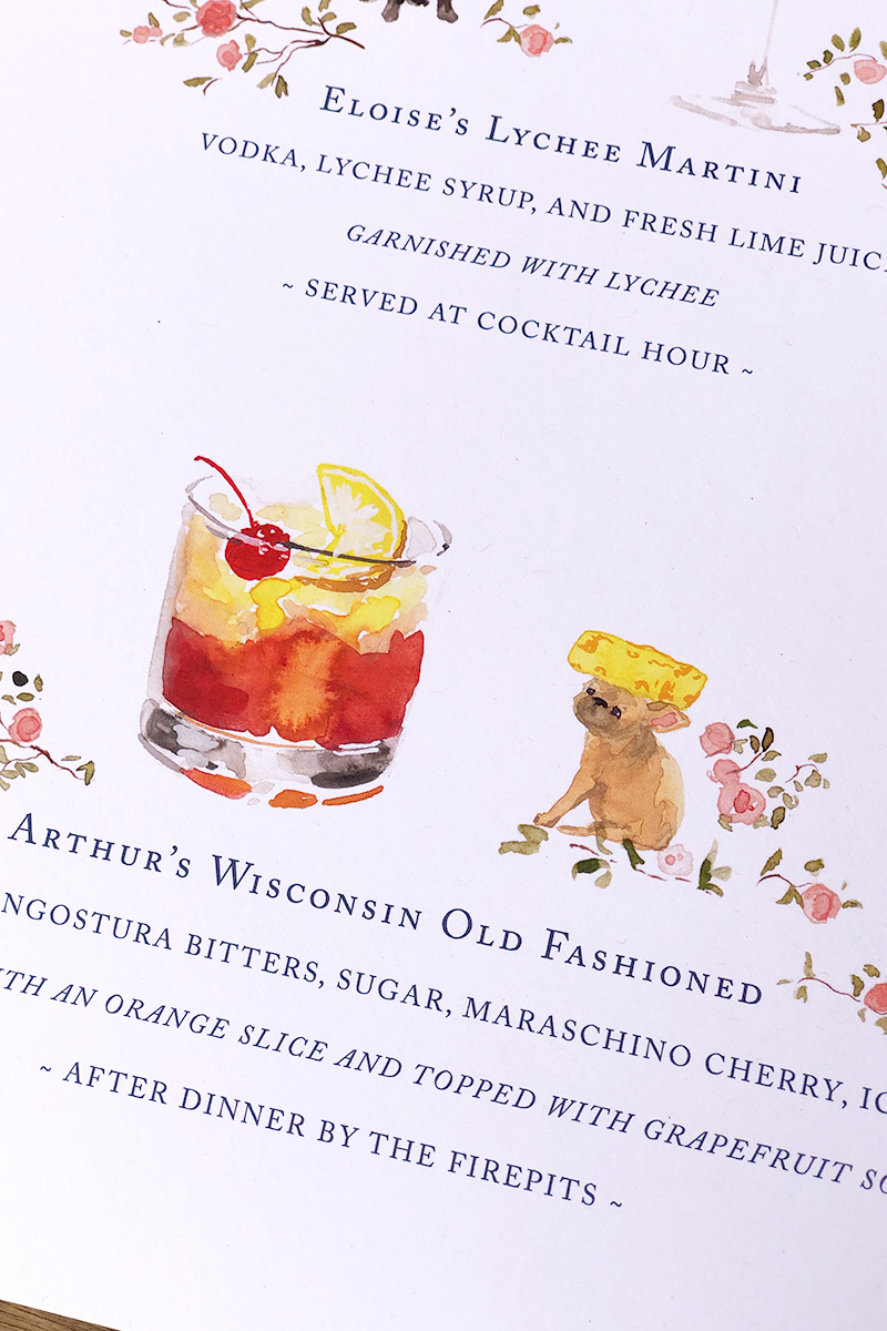 custom cocktail bar sign illustrated and designed by jolly edition