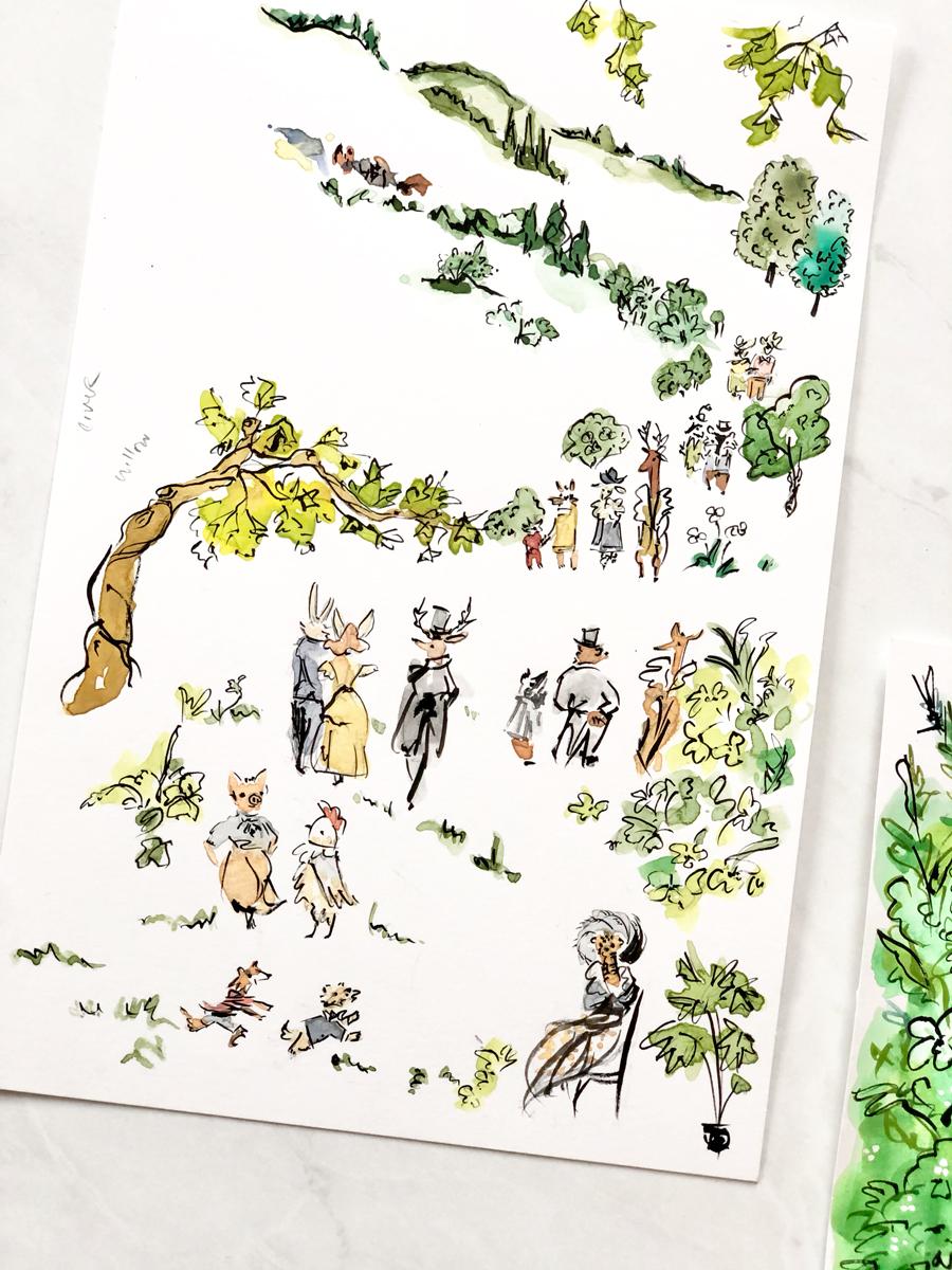 original illustrated wedding characters
