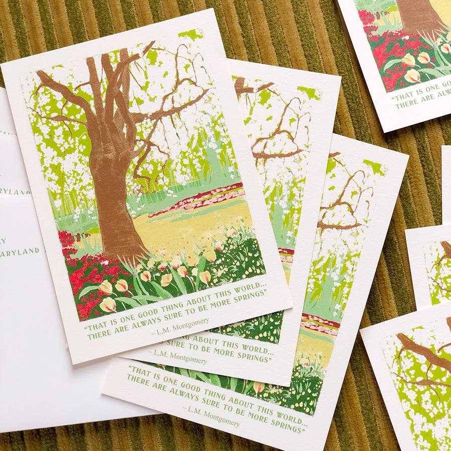 Ann's printed spring announcements